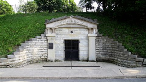 """A vault temporarily held the remains of President Lincoln at Oak Ridge Cemetery in Springfield, Illinois, while a permanent tomb was constructed. <a href=""""http://lincolnfuneraltrain.org/"""" target=""""_blank"""" target=""""_blank"""">The Lincoln Funeral Coalition</a> in early May is re-creating the solemn funeral procession through town, with an ending ceremony at the cemetery. A replica of Lincoln's hearse was built by three teams. """"The main focus is living history. My hope is that people learn the history of this and experience to the best of our ability what occurred in 1865,"""" said coalition Chairwoman Katie Spindell. """"It has to be educational."""""""