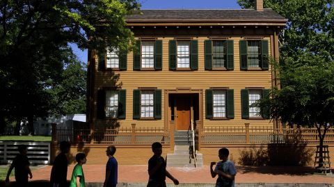 """The re-creation of the funeral procession in Springfield will pass the <a href=""""http://www.nps.gov/liho/index.htm"""" target=""""_blank"""" target=""""_blank"""">Lincoln Home National Historic Site</a>, which will be draped for mourning. The Lincolns and their boys lived in the home from 1844 to early 1861. The sitting room was a popular gathering place """"where Lincoln and his family would relax. He would wrestle with the boys on the floor and read out loud to them,"""" said Laura Gundrum, chief of interpretation. Curator Susan Haake said Mary Lincoln was known for making a very good white almond cake."""