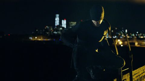 Charlie Cox portrays Daredevil in the Netflix series.