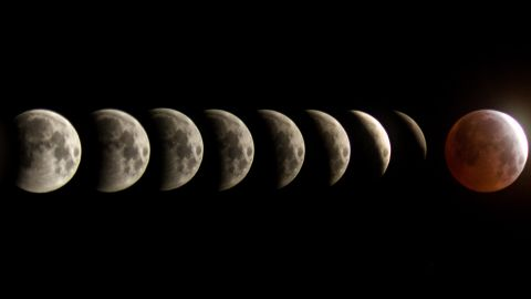 """<a href=""""http://ireport.cnn.com/docs/DOC-1231089"""">BG Boyd </a>created a composition of the total lunar eclipse between the span of two hours Saturday morning in Tucson, Arizona. There are 10 minutes between each frame, he explained"""