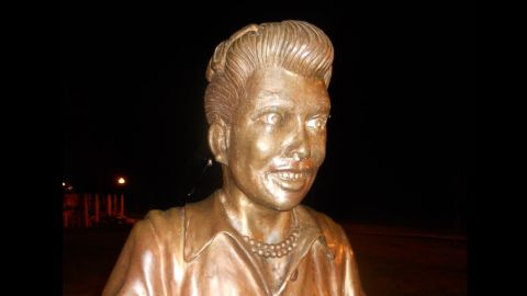 Some residents of Celeron, New York, would like this statue replaced with one that closer resembles Lucille Ball.