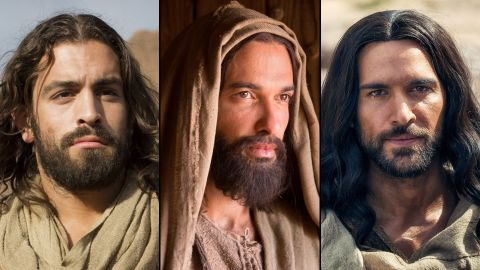 """Adam Bond from CNN's """"Finding Jesus,"""" Haaz Sleima from National Geographic's """"Killing Jesus"""" and Juan Pablo Di Pace from NBC's """"A.D."""""""