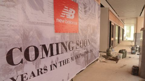 New stores are opening, including this one selling U.S. footwear brand New Balance.