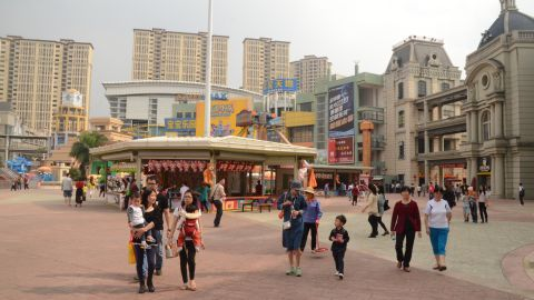 """Once labeled a """"ghost town,"""" the New South China Mall sees a steady stream of visitors on a recent Saturday."""