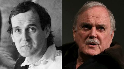 """John Cleese, now 74, created and starred in the immortal TV show """"Fawlty Towers"""" in the 1970s and co-founded Video Arts, a company that makes training films. Younger viewers may know him best for his roles in the """"Shrek"""" films (as King Harold), a pair of James Bond films (as Q) and the Harry Potter series (as Nearly Headless Nick). He's due to appear in """"Absolutely Anything,"""" a film directed by Python cohort Terry Jones, which also features Robin Williams in his last role."""