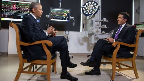 President Obama and Dr. Sanjay Gupta sit down for an interview.
