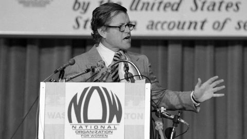 Democratic Sen. Ted Kennedy of Massachusetts championed the ERA in Congress for more than three decades. At a 1978 convention of the National Organization of Women in Washington, he predicted that the Equal Rights Amendment would be ratified.