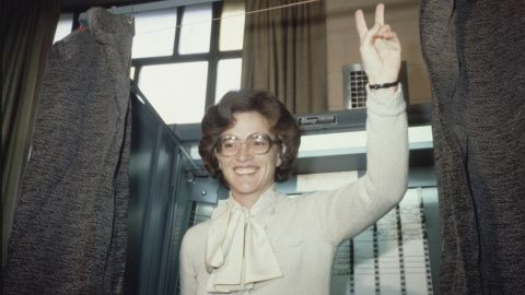 """Elizabeth """"Liz"""" Holtzman won a long-shot campaign for Congress in 1972 by unseating a longtime Brooklyn incumbent who had opposed the ERA. At 31, she became the youngest woman in the House. She co-founded the Congressional Women's Caucus and fought successfully to extend the original 1979 ERA deadline."""