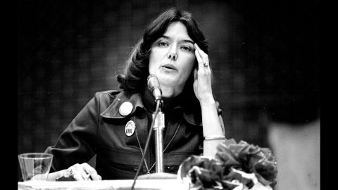Pat Schroeder became the first woman elected to Congress from Colorado in 1972; she won on an anti-Vietnam War, pro-women's rights campaign. A strong advocate of the ERA and abortion rights, she helped found the Congressional Women's Caucus. Among her legislative victories are the 1978 Pregnancy Discrimination Act and the 1993 Family and Medical Leave Act.