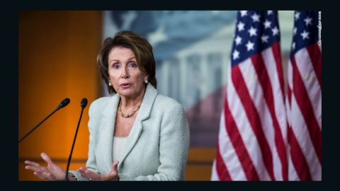 House Minority Leader Nancy Pelosi, D-California, answers questions during her weekly news conference on Capitol Hill on January 16, 2014.