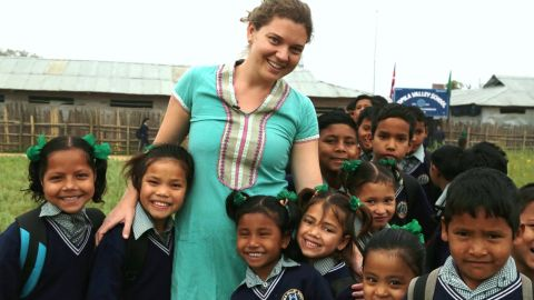 Doyne worked with a community in Nepal to build the Kopila Valley Children's Home.