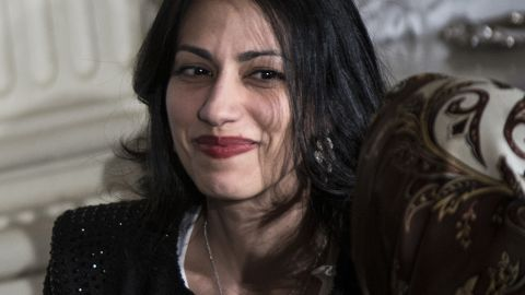 """The gate-keeper -  Huma Abedin has worn many hats for Hillary Clinton - intern, """"body woman,"""" chief of staff - but the title that best describes her is gate keeper and confidant. No one without the last name Clinton is said to have a tighter relationship with the former secretary of state. Although her formal title in the 2016 campaign is not yet clear, she remains one of Clinton's most trusted personal aides."""