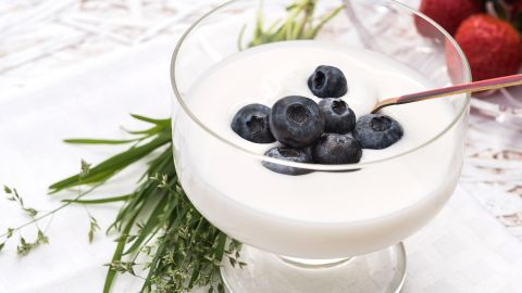 Does your stress go along with an upset stomach, or vice versa? The probiotics in yogurt can help.