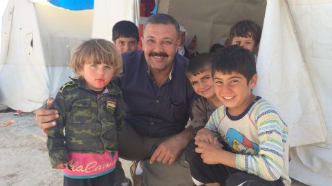 Despite everything they've been through, some Yazidi refugees find a reason to smile.