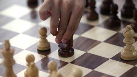 A chess player competes at the Yonsei International Campus on July 1, 2013 in Incheon, South Korea.