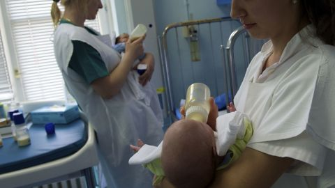 Most banked breast milk goes to hospitalized infants.