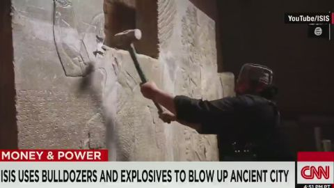 erin pkg pleitgen isis destroyes important archaeological site_00002828.jpg