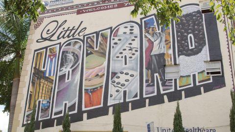 artwork murals from the little havana area of Miami florida