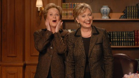 """Actress Amy Poehler also played Clinton in several """"SNL"""" skits."""