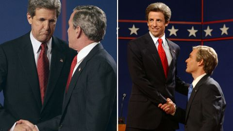 """""""Saturday Night Live"""" aired its own presidential debate for the 2004 election with Seth Meyers as John Kerry and Will Forte as President George W. Bush."""