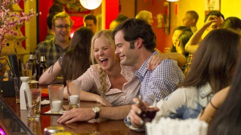 """In """"Trainwreck,"""" Amy Schumer plays a woman who steadfastly refuses to get herself involved in a relationship longer than a fling. Then she meets a sports doctor played by Bill Hader. If you've seen the trailers, you know that LeBron James has a role as himself -- and he's hilarious. Judd Apatow directs from Schumer's script. The film opened July 17."""
