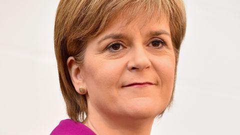 Scotland's First Minister Nicola Sturgeon on April 7, 2015 in Livingston, Scotland.