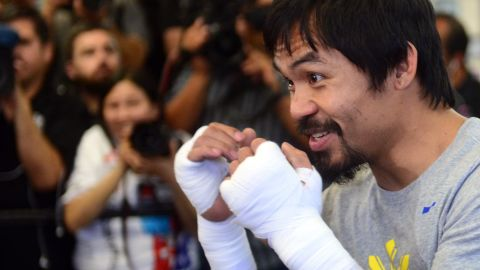 """""""My entire career defines my legacy. Everything I have done in boxing,"""" Pacquiao said. """"I have had some great, great accomplishments and achievements in my career."""" The bout is set for May 2 and is expected to fetch over $300 million."""