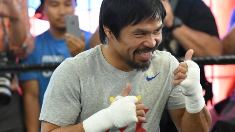 """Star of """"Manny,"""" a film recently released in the Philippines, Pacquiao said he's ready to rumble. """"What I feel right now is motivation, inspiration and determination,"""" he said at the Wild Card Boxing Club, his training headquarters in Hollywood. """"The killer instinct is there, I love it."""""""