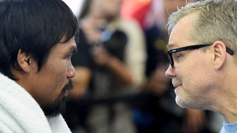 """""""I've never seen Manny at this level,"""" said trainer Freddie Roach, right. """"He's really motivated for this fight. It has really escalated his performance. I think he's faster than ever and he's definitely hitting harder than ever."""""""
