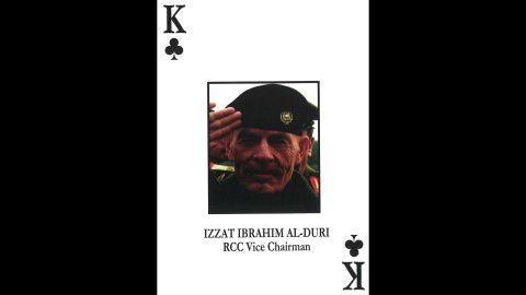 Izzat Ibrahim al-Douri<br />Revolutionary Command Council vice chairman / Northern Region commander / Deputy secretary general, Ba'th Party Regional Command / Deputy commander, Iraqi armed forces.<br />April 17, 2015: killed in a security operation in Iraq, according to Iraqi state-run television.
