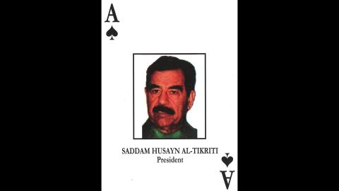 """Saddam Hussein<br />Former Iraqi President<br />December 13, 2003: Captured in a """"spider hole"""" in Tikrit.<br />November 5, 2006: Sentenced to death.<br />December 30, 2006: Executed."""