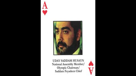 Uday Hussein<br />Saddam Hussein's eldest son<br />Member of the National Assembly, Olympic Committee<br />July 22, 2003: Killed in a firefight in Mosul.