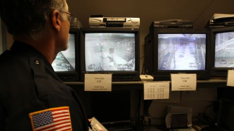 After officials process former NFL player Aaron Hernandez, he will serve his life sentence without parole at  the Souza-Baranowski Correctional Center in Shirley, about 40 miles outside downtown Boston. It's one of the most high-tech prisons in the United States, opening in 1998. About 365 cameras monitor inmate activity, as shown here.