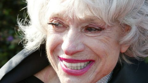 """Carol Channing at """"The 2002 Tony Awards Party hosted by Jo Anne Worley"""" where The Julie Harris Award for Lifetime Achievement was presented by Walter Cronkite to Carol Channing."""