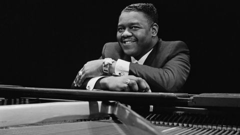 American pianist and singer-songwriter Fats Domino, March 27, 1967.