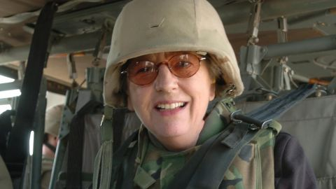 Sandra Mackey spent time with the Army's 1st Infantry Division in Iraq in 2004, teaching about the country.