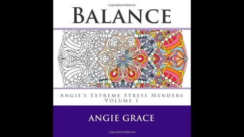 """Relieving stress and restoring calm are common themes on the adult coloring book market. """"<a href=""""http://www.amazon.co.uk/Balance-Angies-Extreme-Stress-Menders/dp/1508582211/ref=sr_1_1?s=books&ie=UTF8&qid=1429572376&sr=1-1&keywords=Balance+%28Angie%27s+Extreme+Stress+Menders+Volume+1%29"""" target=""""_blank"""" target=""""_blank"""">Balance (Angie's Extreme Stress Menders Volume 1)</a>"""" by Angie Grace is one in a series of such coloring books."""