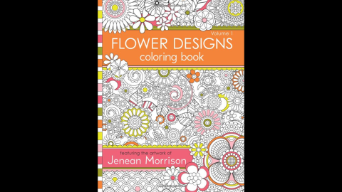 """Intricate designs are a hallmark of adult coloring books. """"<a href=""""http://www.amazon.com/Flower-Designs-Coloring-Book-1/dp/0615983987/ref=sr_1_1?s=books&ie=UTF8&qid=1429573277&sr=1-1&keywords=Flower+Designs+Coloring+Book+%28Volume+1%29"""" target=""""_blank"""" target=""""_blank"""">Flower Designs Coloring Book (Volume 1)</a>"""" by Jenean Morrison offers painstakingly detailed floral designs to fill in.<br />"""