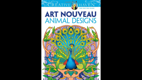 """Design-minded grownups can find many fine-art and design-themed coloring books to satisfy their inner creative.<a href=""""http://www.amazon.com/Creative-Nouveau-Animal-Designs-Coloring/dp/0486493105/ref=sr_1_1?s=books&ie=UTF8&qid=1429573309&sr=1-1&keywords=%22Dover+Creative+Haven+Art+Nouveau+Animal+Designs+Coloring+Book"""" target=""""_blank"""" target=""""_blank""""> """"Dover Creative Haven Art Nouveau Animal Designs Coloring Book</a>"""" by Marty Noble and Creative Haven is one title."""