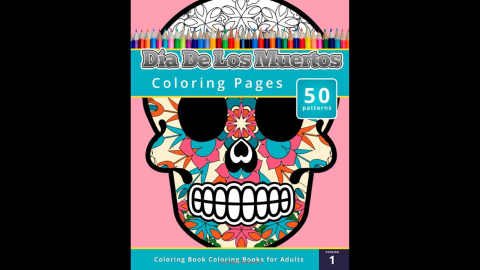 """""""<a href=""""http://www.amazon.com/Coloring-Books-Grownups-Dia-Muertos/dp/1503021343/ref=sr_1_1?s=books&ie=UTF8&qid=1429573069&sr=1-1&keywords=Coloring+Books+for+Grownups%3A+Dia+de+los+Muertos"""" target=""""_blank"""" target=""""_blank"""">Coloring Books for Grownups: Dia de los Muertos</a>""""<br />by Chiquita Publishing is an offering that might not be appropriate for young children, but offers adults the chance to create art with cultural iconography."""