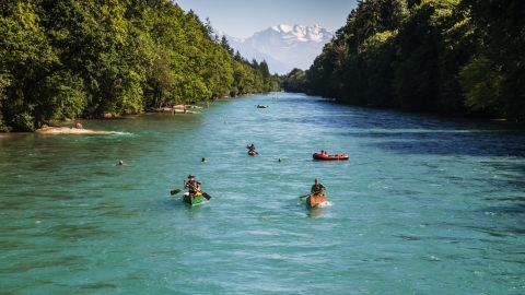 <strong>Switzerland</strong> is the happiest country in the world, according to the latest World Happiness Report. What could be happier than a trip to the capital city of Bern for a spring or summer paddle down the River Aare?