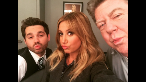 """""""I got George Wendt to do duck face,"""" <a href=""""https://instagram.com/p/1jUpjTwaEG/?taken-by=ashleytisdale"""" target=""""_blank"""" target=""""_blank"""">actress Ashley Tisdale said</a> on Thursday, April 16. """"And also @ryan_pinkston #missionaccomplished."""""""