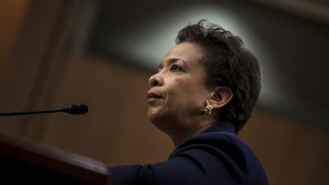 Loretta Lynch listens during her confirmation hearing before the Senate Judiciary Committee January 28, 2015 in Washington, D.C.