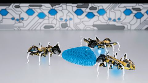 """Festo, another German manufacturer, invests heavily in <a href=""""http://edition.cnn.com/2015/05/06/tech/mci-bionic-insects/"""">biomimicry</a>: one if its latest creations is a set of robotic ants."""