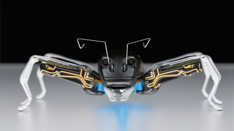 Festo's prototype artificial BionicANTs takes its cue from the deeply hierarchical and highly organized world of the ant colony.