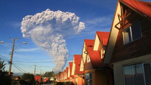 The Calbuco volcano erupts near Puerto Varas, Chile, in April 2015.