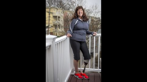 """<strong>Karen Rand McWatters </strong>lost a leg -- and one of her best friends. She and Krystle Campbell spent the day laughing and posting selfies on Facebook before heading to the finish line. She was knocked to the ground by the first blast, and heard the second before she could understand what was happening. Her foot was turned in the wrong direction, but she dragged herself toward Campbell. She couldn't see how badly hurt her friend was. """"I got close to her head, and we put our faces together. She very slowly said her legs hurt, and we held hands and very shortly after her hand went limp and we never spoke again."""""""