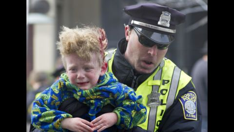 <strong>Leo Woolfenden</strong> was lifted from his stroller by a first responder as the boy's father lay on the ground with a severed leg. Leo suffered a skull fracture. <br />