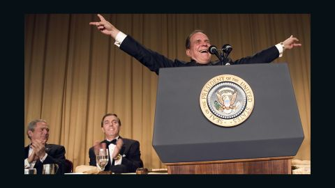 While Bush played it cool during Colbert's roast, the White House was reportedly so angry that staffers ensured that a safer and friendlier comic, impressionist Rich Little, was invited to perform at 2007's dinner. Little had not performed at such a gathering since the Reagan years and some found his jokes and Nixon impressions stale and unmemorable. However, Little's selection was memorable in itself because it was viewed as a direct reaction to the ruthless roast of Bush in 2006.