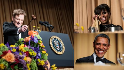 """In addition to Obama's comic address, Conan O'Brien managed to pull off one of the funniest WHCD performances of all time in 2013. He took shots at everyone, including the media, utilizing the metaphor of high school cliques: """"Fox is the jocks. MSNBC is the nerds. Bloggers are the goths. NPR is the table for kids with peanut allergies. Al Jazeera is the weird foreign exchange student nobody talks to. Print media, you're the poor kid who died sophomore year in a car crash. Cheer up, we dedicate the yearbook to you!"""""""